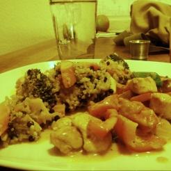 Foto Gemüse mit Poulet